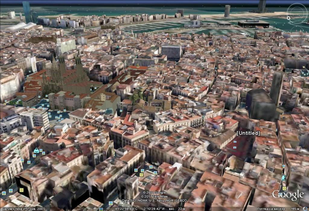 Medieval Barcelona through Google Earth