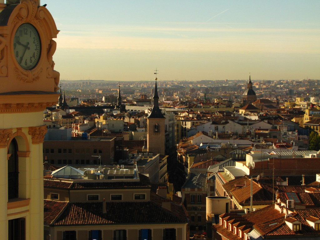 Panorama of downtown Madrid