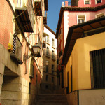 Narrow stairway in downtown Madrid