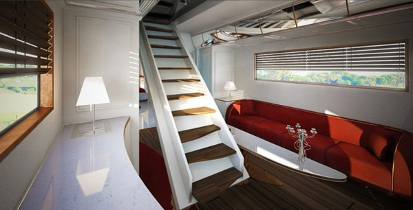 """Palace on Wheels"" camper interior"