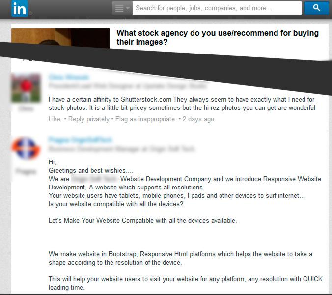 LinkedIn spammers