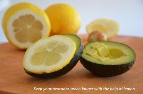 Keep avocados fresh longer with lemon