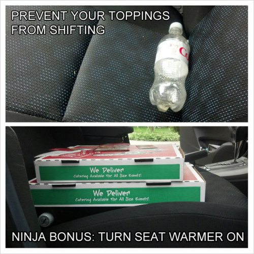 Keep food straight at the back seat of your car