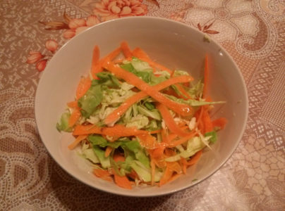 Bunny salad – simple, cheap and very refreshing