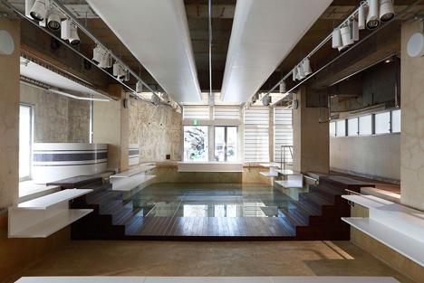 Indoor pool converted into boutique, Tokyo