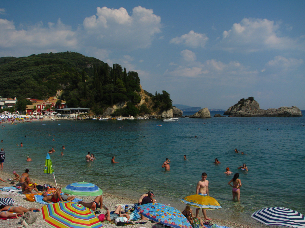 Krioneri, main beach in Parga