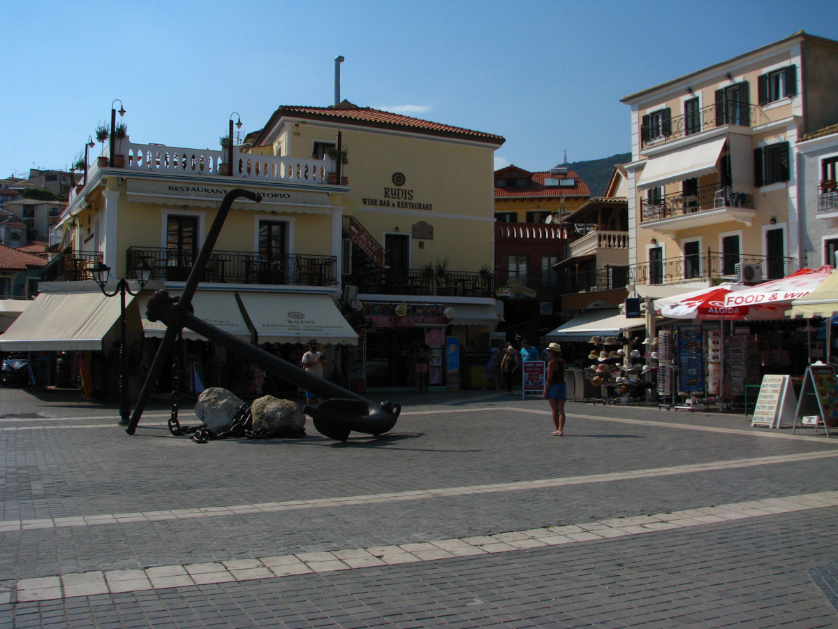 The central square in Parga