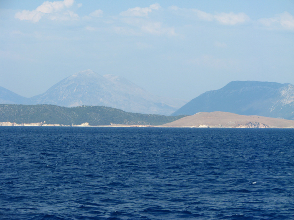 Impressive mountains of Lefkada