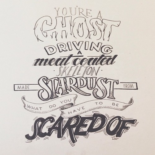 You're a Ghost driving a meat coated Skeleton made from Stardust. What do you have to be Scared of?