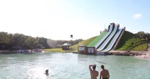 Royal flush epic water slide