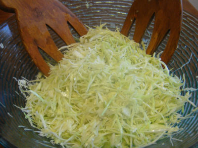 Boosted cabbage salad – express recipe