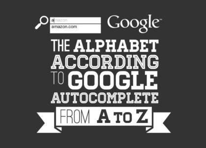 Google autocomplete alphabet: These brands appear first for each letter – Infographic