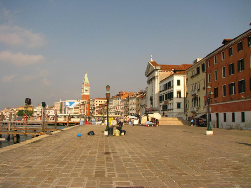 Venice docks near St. Mark's square