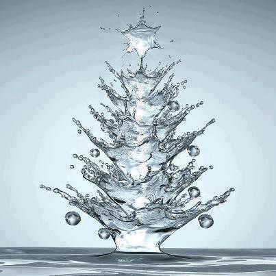 Water drop Christmas tree