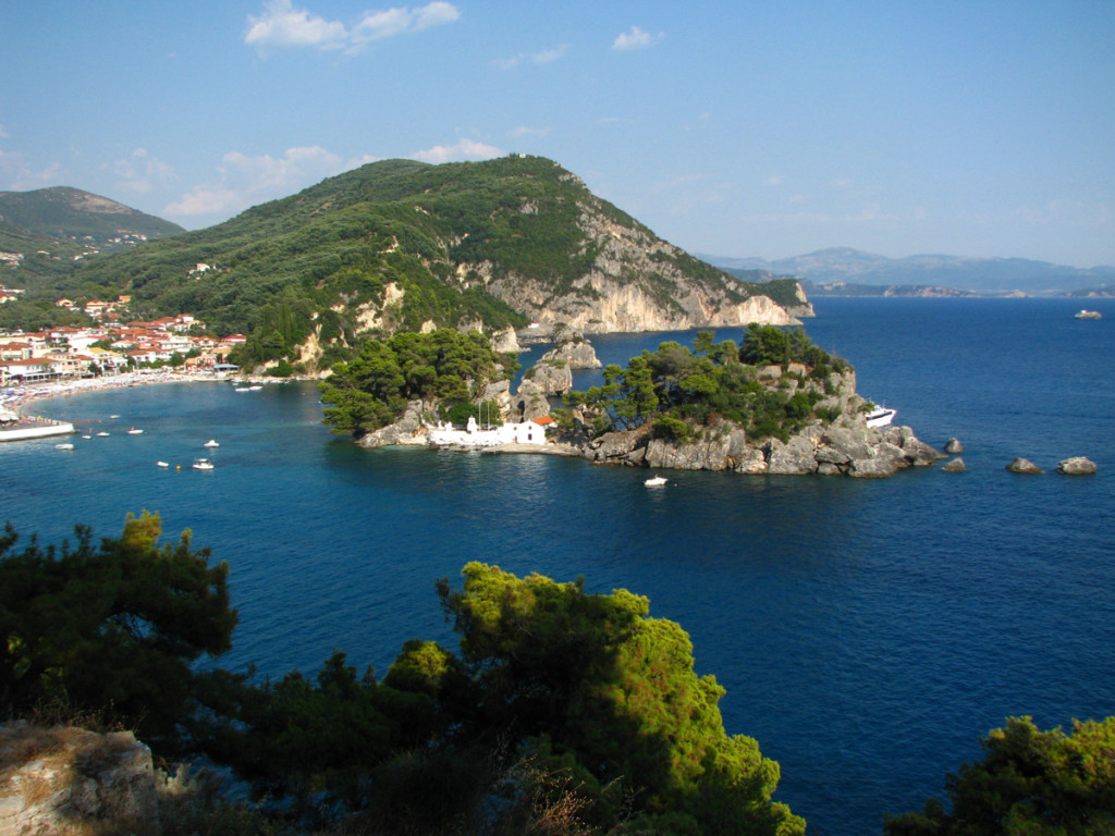 View of Parga and the Panagia island
