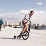Halfbike - light personal urban transportation